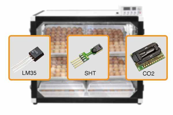 مجهز بودن دستگاه جوجه کشی 252 تایی به 3 سنسور دقیق دما و رطوبت