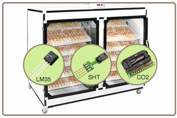 سیستم تنظیم دما و رطوبت با 3 سنسور مجزا sht, lm35